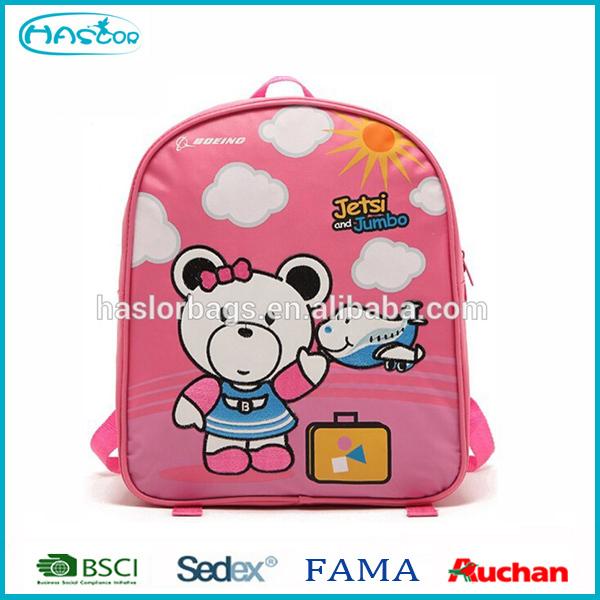 2016 Unique high quality custom 3d school bag