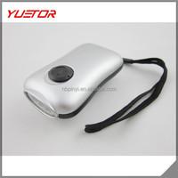 3 LED bulb Solar Powered Hand Crank - Mini manual generator Powerful lights up to 30 Dynamo flashlight