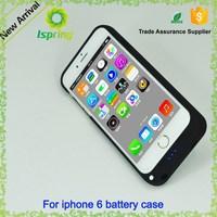 Li-polymer external 3500mah battery case for iphone 6 4.7 , for iphone 6 battery case power bank charger