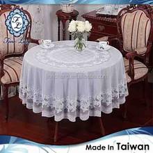 PREMIUM Plastic Round White TABLE CLOTH