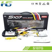 3D Super Alloy Unmanned Remote Control RC Helicopter Syma S107G for adults for sale