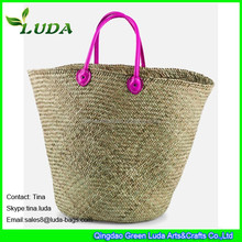LUDA 2016 Best Selling Natural Handmade Straw Beach Bag Natural Seagrass Straw Bags