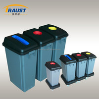Wholesale outdoor plastic trash bin with wheel base
