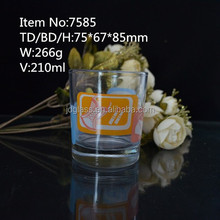 Hot sale print customized logo shot glass
