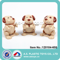 PVC Packing funny plastic mini baby wind up toy dog