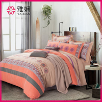 Hot sale 100% cotton fabric hand embroidery bed sheet