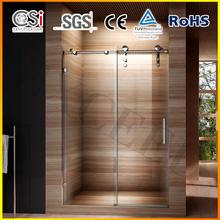 Modern Design 62''X31''/62X30''/10mm safty glass sliding shower screen
