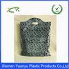 colorful Die Cut Plastic handle Bags Xiamen manufactory die cut handle foldable shopping bag