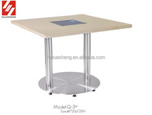 rectangle stainless steel restaurant hot pot table