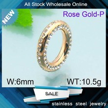 New arrived fashion top quality rose gold pave crystal wedding ring