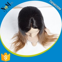 Silky Straight Wave indian remy human hair toupee / wig for men price low for sale