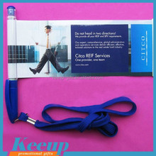 large area advertisement banner Pen with Lanyard