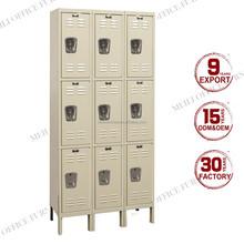 3 Compartment 9 Soor Metal School Locker Cabinet With Foot