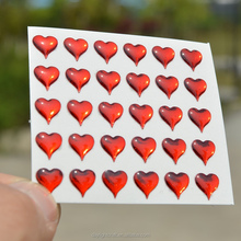 self-adhesive kids face decor 3D heart label / Epoxy sticker