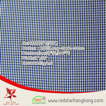new hot sale 100% cotton long stapled twill check fabric
