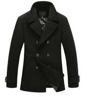 New Coat Designs For Men Wholesale Winter Buttoned Men's Wool Coat
