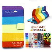 leather flip cover case for nokia asha 300