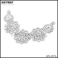 2015 Fashion bridal sash rhinestone applique with crystal for wedding