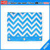 wholesale blue ripple 3 three binder pencil pouches case for binders