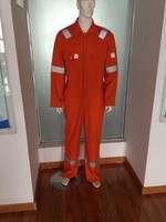 100% cotton orange fireproof workwear overall