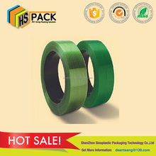 High tension green pet strap polyester webbing strap used clothes packing band