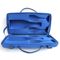 High quality China manufacture eva wine carrying case for 750ml Mumm Champagne