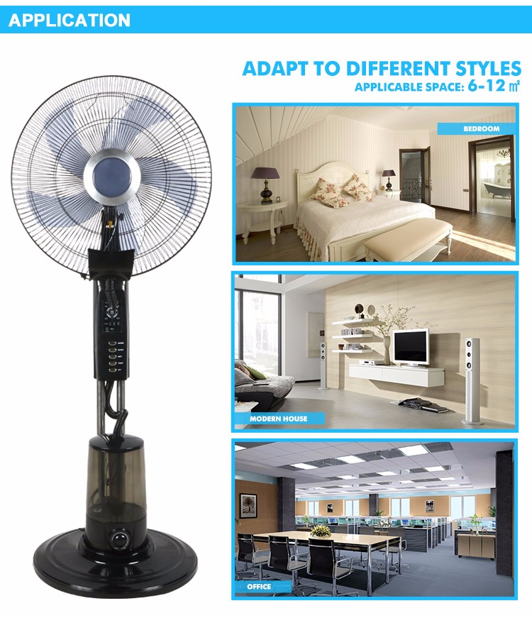 Pedestal Fans In Factory : Factory price direct quality quot stand mist fan with low