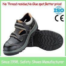 SF19003-2 Barton buffalo leather black antistatic safety shoes china