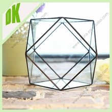 2015 NEW! Just add some soil and a small plant to light the room!geometrical glass pet terrarium