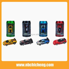 1 :58 Mini Coke Can Speed RC Radio Remote Controlled Micro Racing Car Toys Kids Game & Remote control car