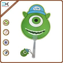 Wholesale picture printing plastic cartoon gift fan for kids