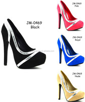 Classic Heels Ladies Shoes Women 2014 Simply Chic Block Heels platform Pumps Shoes Wholesale Cheap China Women (JM-0469)