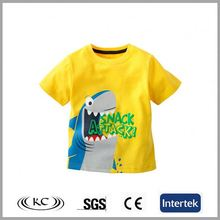 high quality fashion china animal yellow korea children t-shirt
