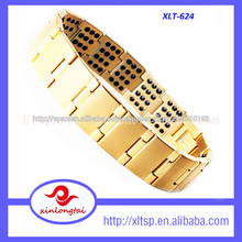 calidad superior de nuevo de oro pulsera de germanio diseños de los hombres
