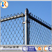 China manufacturer high quality galvanized black vinyl coated chain link fence