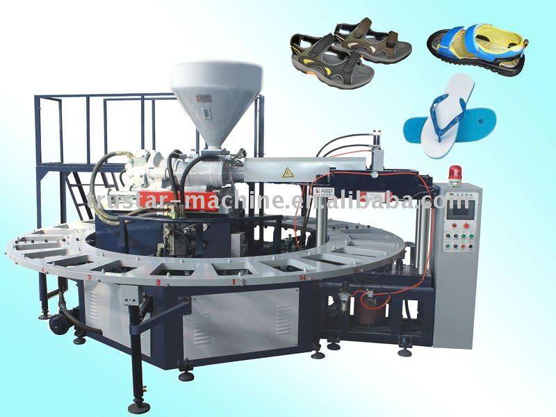 Otomatik pvc döner tip hava üfleme ayakkabısı kalıplama makinesi( jg- 3124)