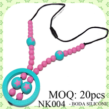 NK004 - Wholesale Silicone Bead Necklace for Teething Babies