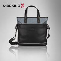 K-BOXING Brand Stylish Men's PU Black Handbag