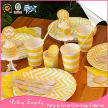 Hot sale Paper Plates Cups Tableware factory in China for Wedding Birthday Decor