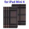 Wholesale China Grid Pattern Flip PU Leather tablet case for ipad mini 4 2015