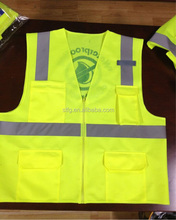 100% Polyester Yellow Motorcycle Reflective Safety Vest