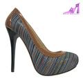 2014 talón de alta plataforma de las mujeres zapatos