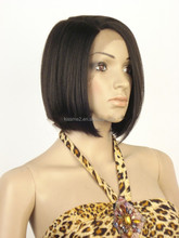 China manufacturer Top Quality Medium synthetic hair Bob wigs factory price Japan Fiber lace front wig