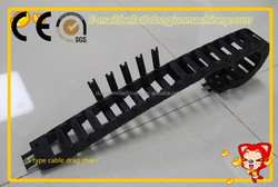 Small CNC Nylon Line Engineering Plastic Cable Drag Chain by Cangzhou Dongjun Machinery Accessories Co.,Ltd company