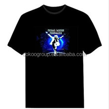 2012 LED flashing T-Shirt Sound Activated Light Up Down Music Party Equalizer/light t-shirt