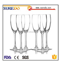 Promotion for stock hand-made glass champagne goblet
