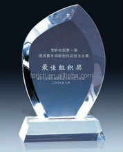 China Made Special Design Acrylic shield award trophy/marble trophy base