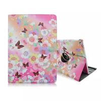Tablet case super slim flora printing pu leather 360 rotating case for ipad pro 12.9 , for ipad pro leather case