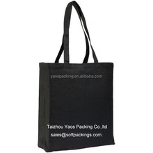 black color without printing bag for shopping, wholesale reusable shopping bag, non woven tote bag grocery bag