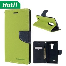 for lg g4 mobile phone wallet case,fashion double colors matched leather flip cover case